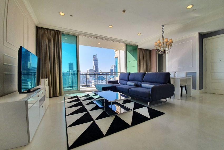 Royce Private Residences 3 Bedroom - Rent - living room