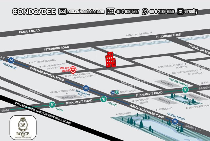 Royce Private Residences condo - map