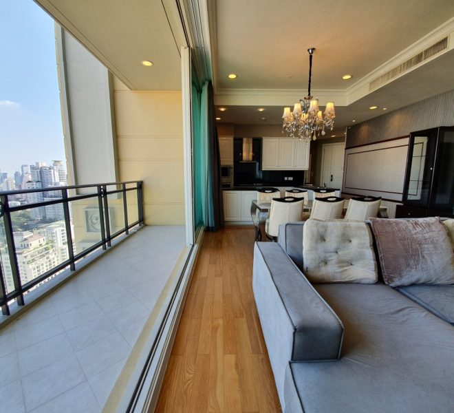 Luxury condo for rent in Asoke - 2 bedroom - high floor - Royce Private Residences