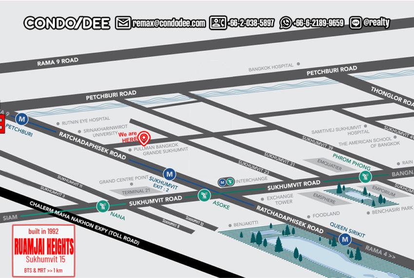 Ruamjai Heights Sukhumvit 15 - map