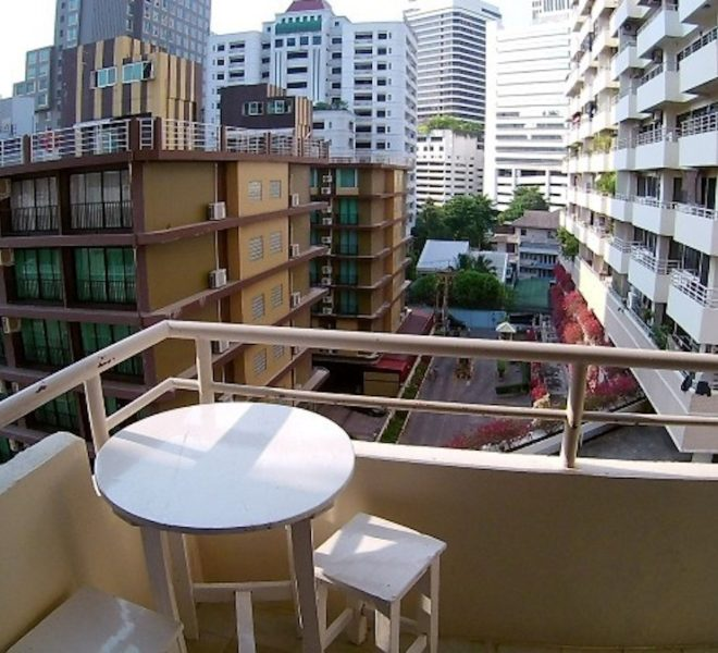 Condo for sale in Sukhumvit 6 – 1-bedroom – low floor – Saranjai Mansion