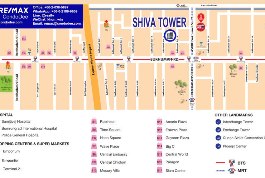 Shiva Tower - map