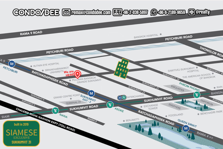 Siamese Exclusive Sukhumvit 31 - map