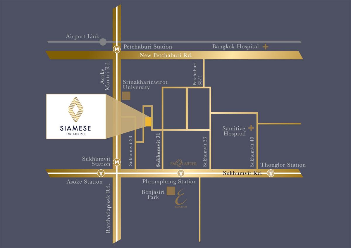 Siamese Exclusive Sukhumvit 31. Condo in Asoke. Buy condo in Asoke. Rent condo in Asoke. Invest property in Bangkok. Duplex condo in Asoke.