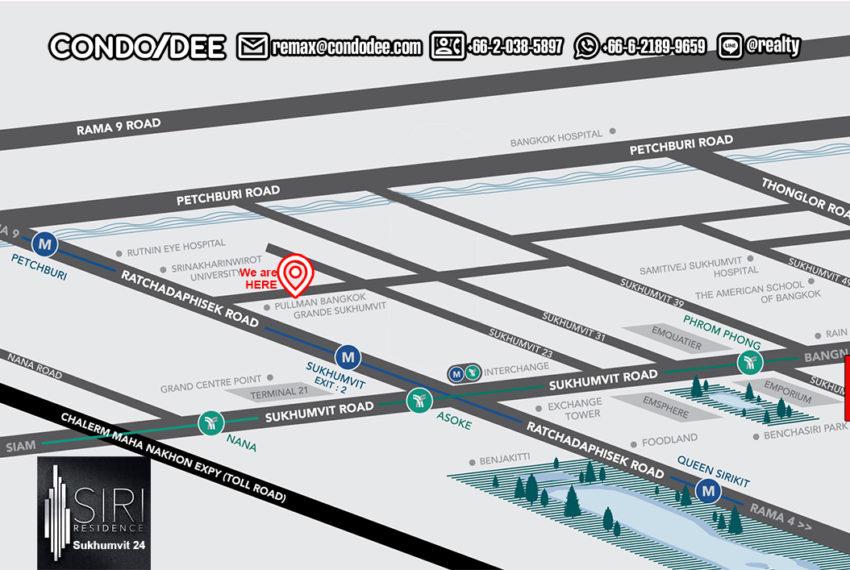 Siri Residence - map