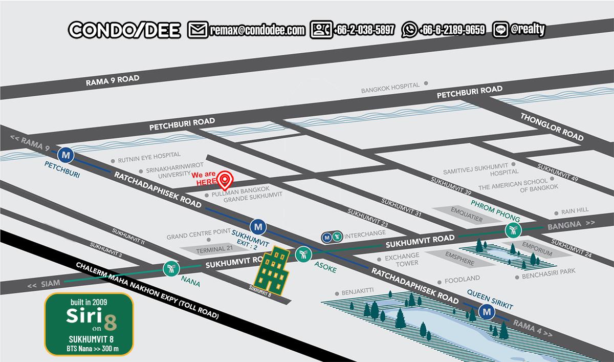 Siri On 8Sukhumvit 8Low-Rise Condominium Near Nana BTS