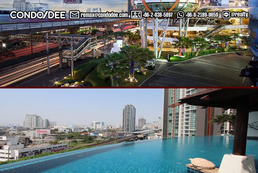 Sky Walk Condominium near Phra Khanong BTS - drone view