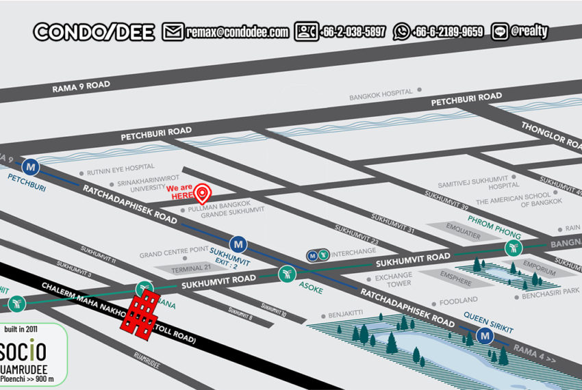 Socio Ruamrudee - map