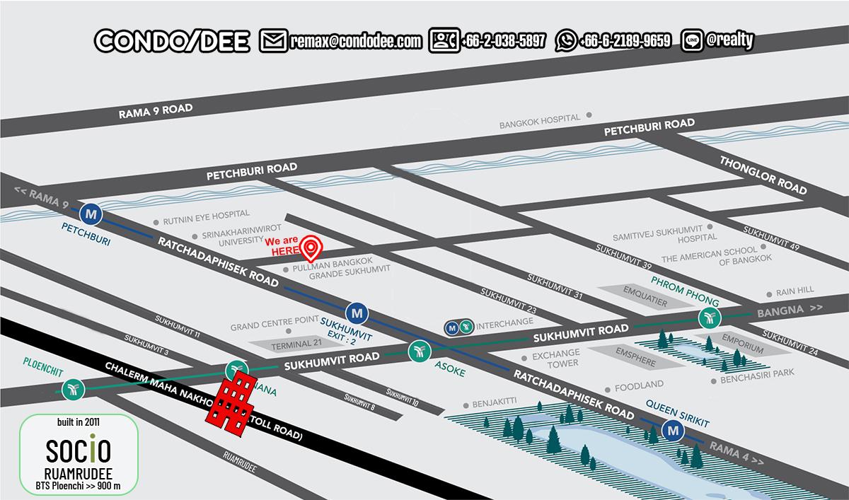 Socio Ruamrudee - Bangkok Condo Near BTS Ploenchit