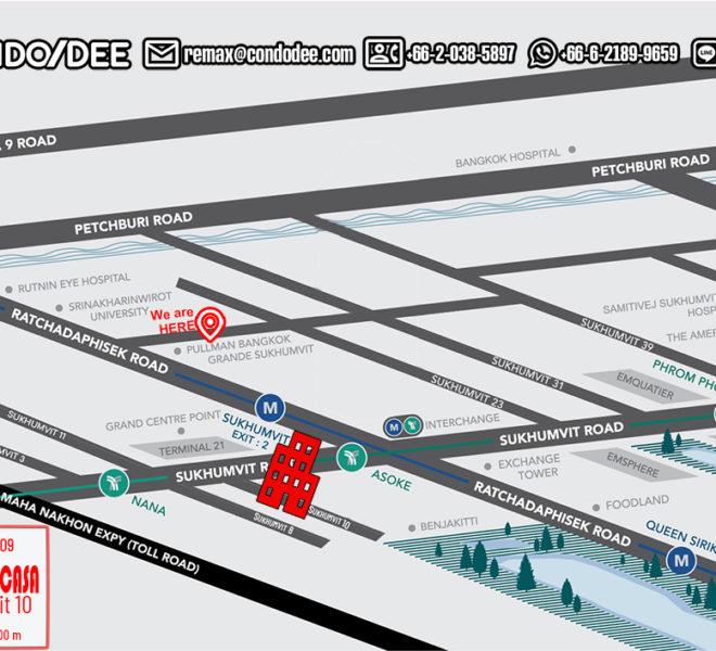 Sukhumvit Casa condo - map