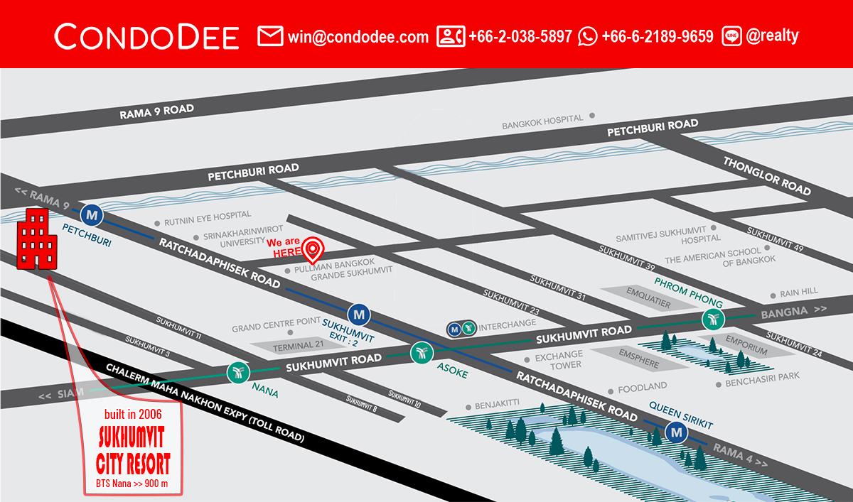 Sukhumvit City Resort Condominium in Nana at Sukhumvit soi 11