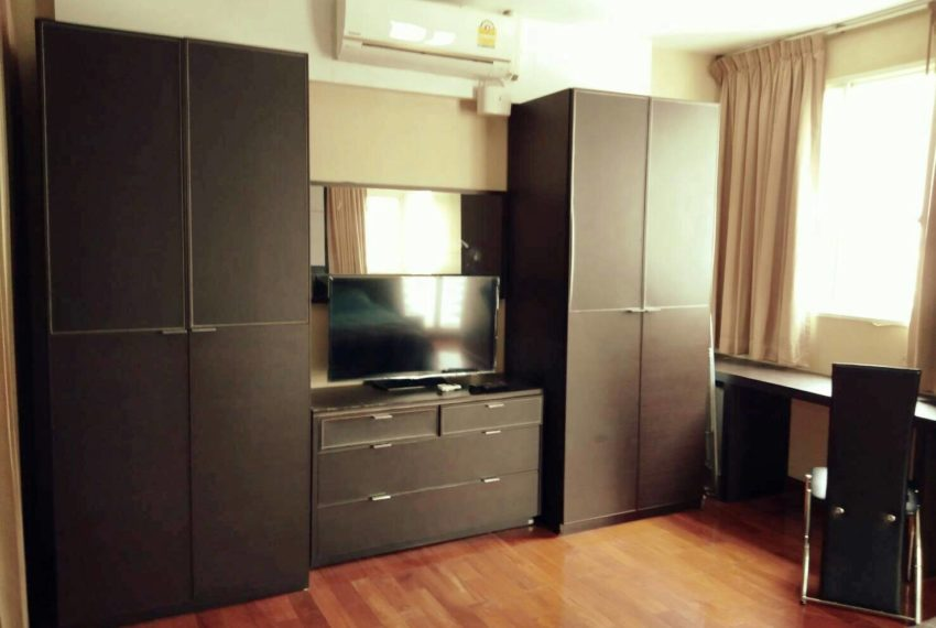 Sukhumvit-City-Resort-sell-1bed-high-floor-flatTV