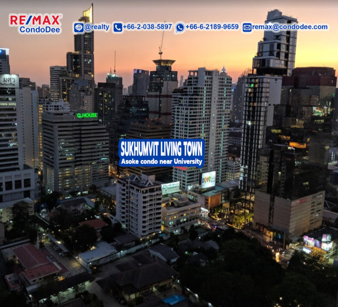Sukhumvit Living Town Condominium in Asoke Near University