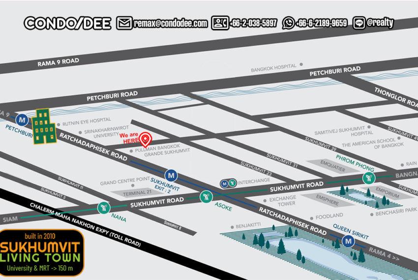 Sukhumvit Living Town condominium - map
