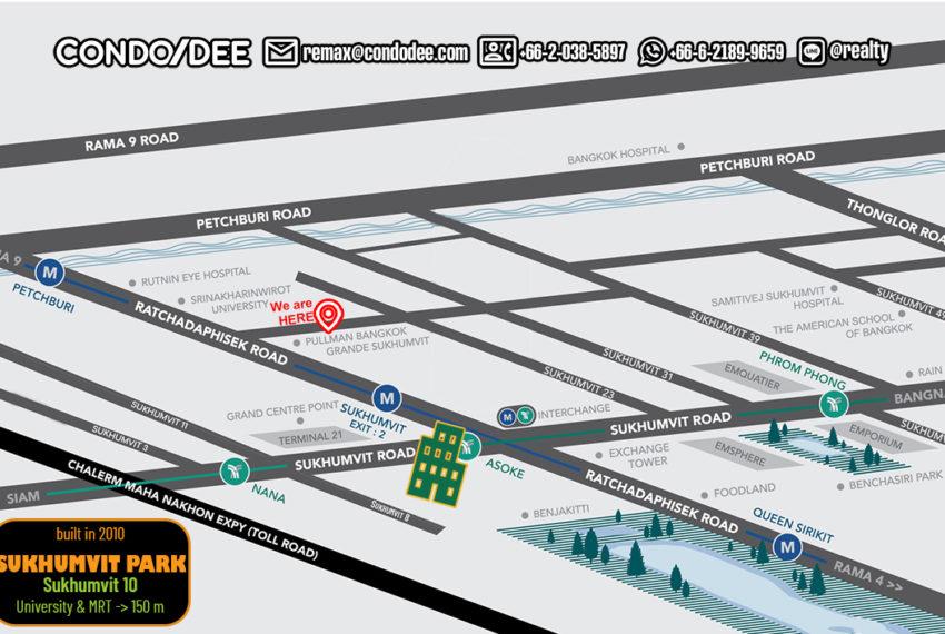 Sukhumvit Park condo - map