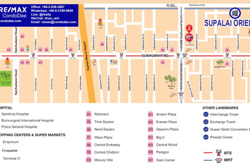 Supalai Oriental Sukhumvit 39 condominium - map