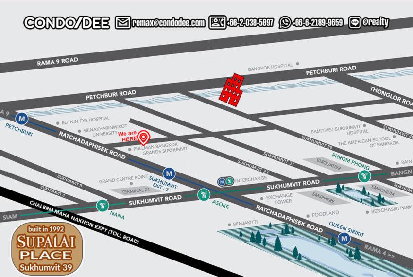 Supalai Place Sukhumvit 39 condo - map