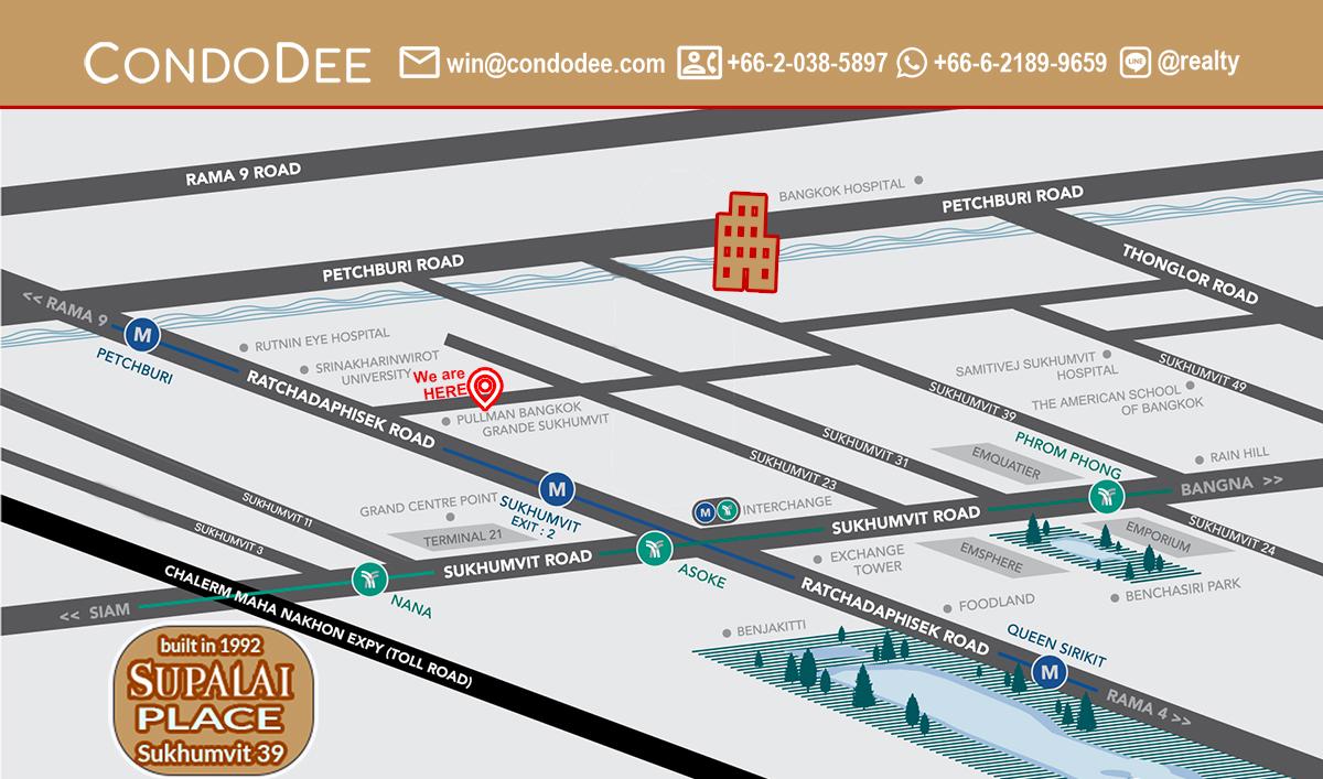 Supalai Place Sukhumvit 39 Condominium in Phrom Phong