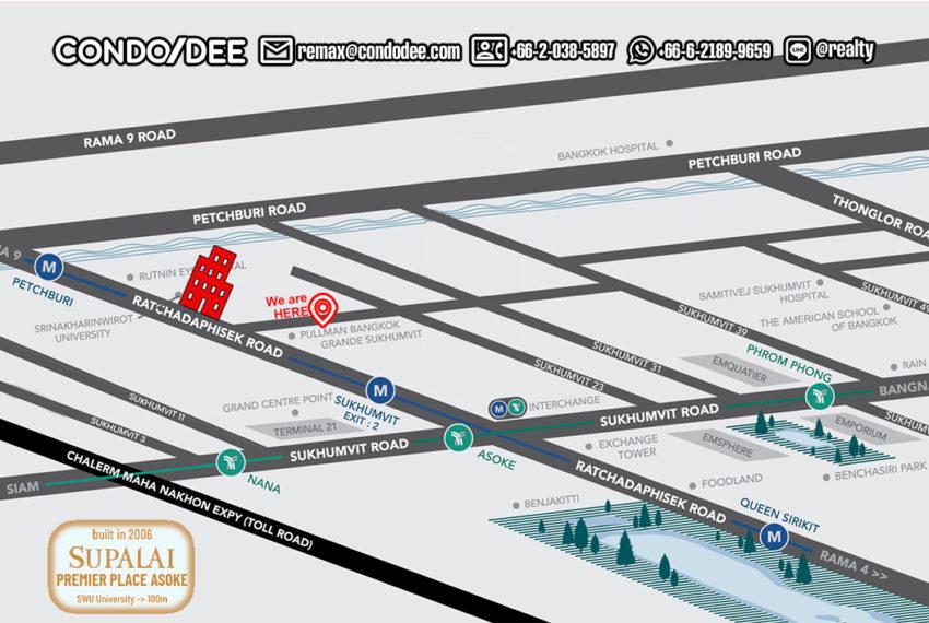 Supalai Premier Place Asoke - map