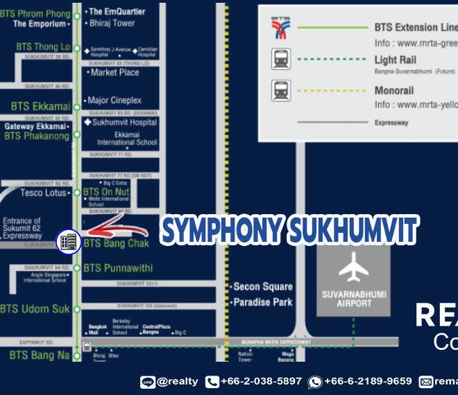Symphony Sukhumvit condo - map
