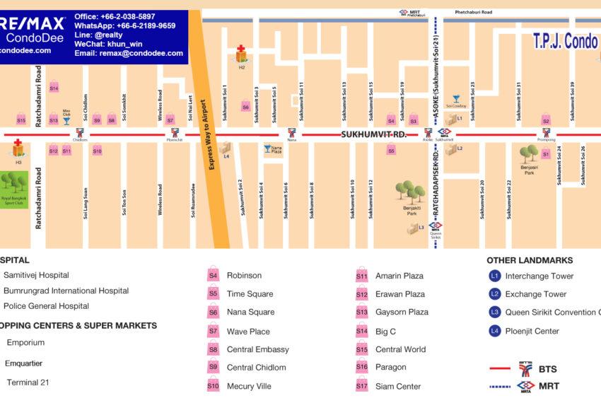 T.P.J. condo - map