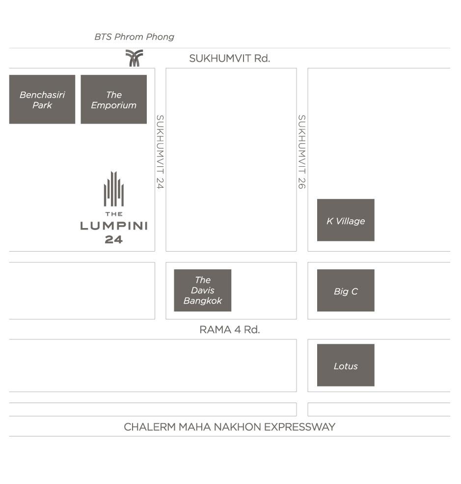 The Lumpini 24 Condominium Near BTS Phrom Phong