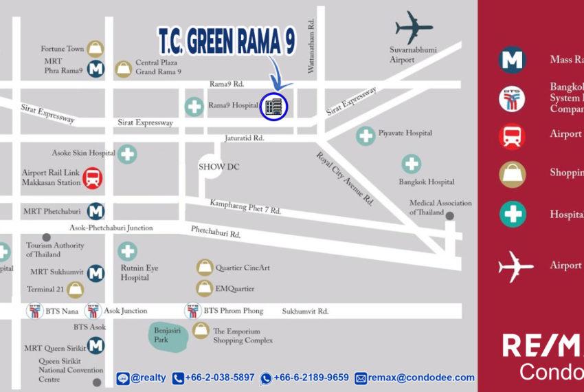 TC Green Rama 9 condominium - map