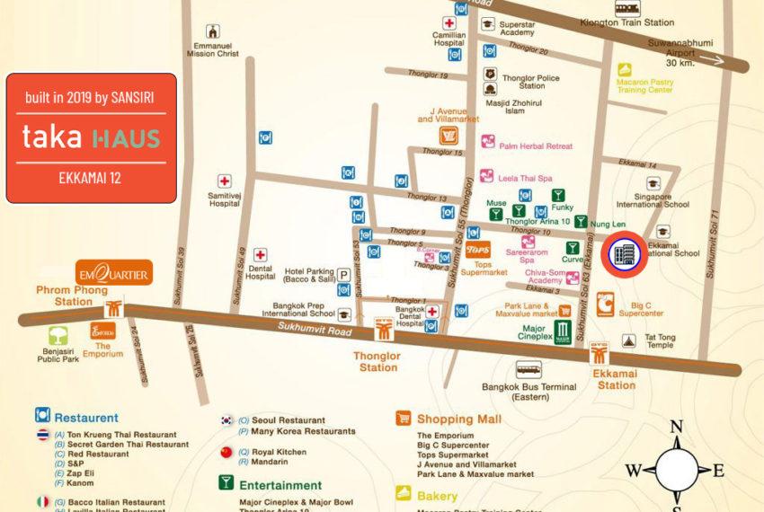 Taka Haus Ekamai 12 condo - map