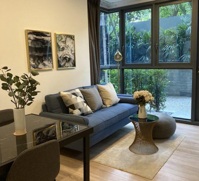 Condo for sale in Ekamai 12 - 2-bedroom - garden access - Taka Haus