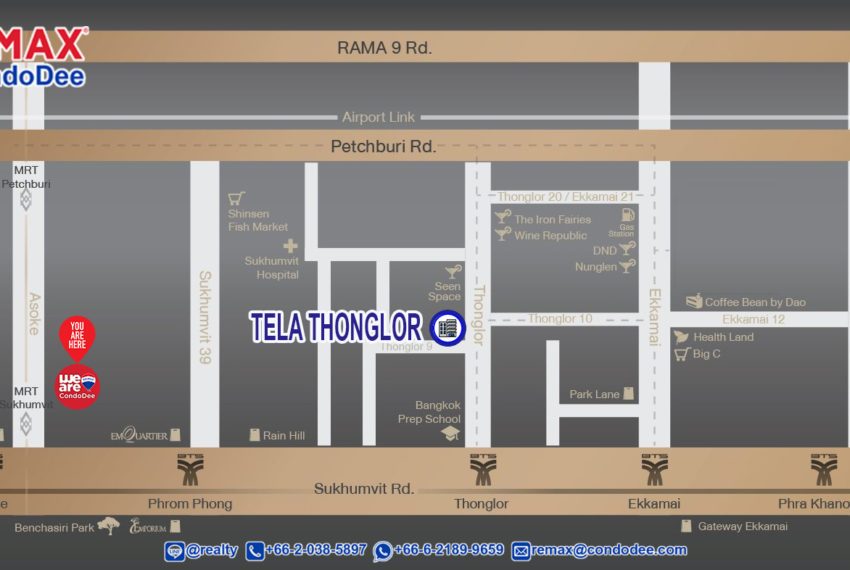 Tela Thonglor condo - map