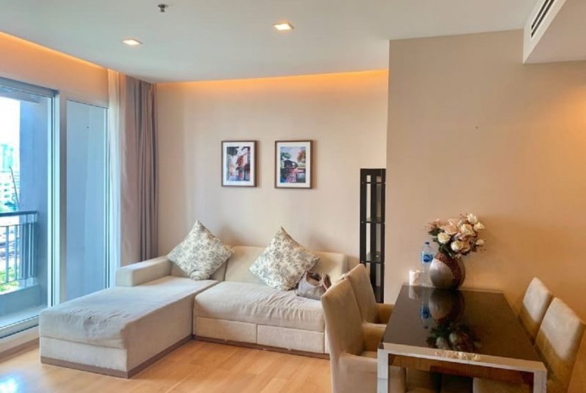 The Address Asoke 2 bed 2 bath- living room-2