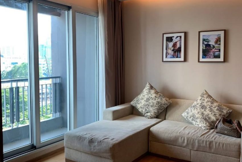 The Address Asoke 2 bed 2 bath- living room-4