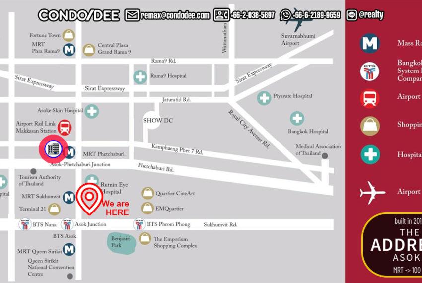 The Address Asoke - map