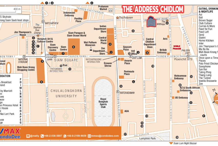 The Address Chidlom - map REMAX CondoDee