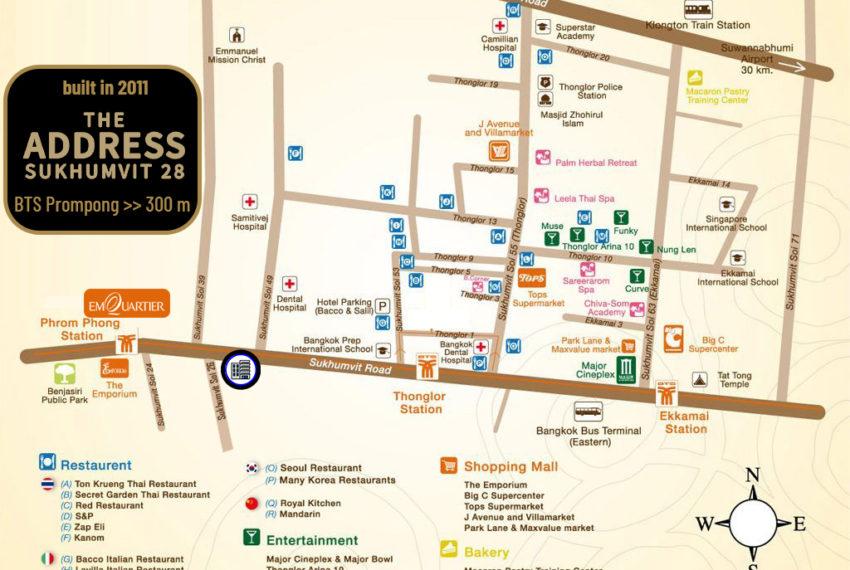 The Address Sukhumvit 28 - map