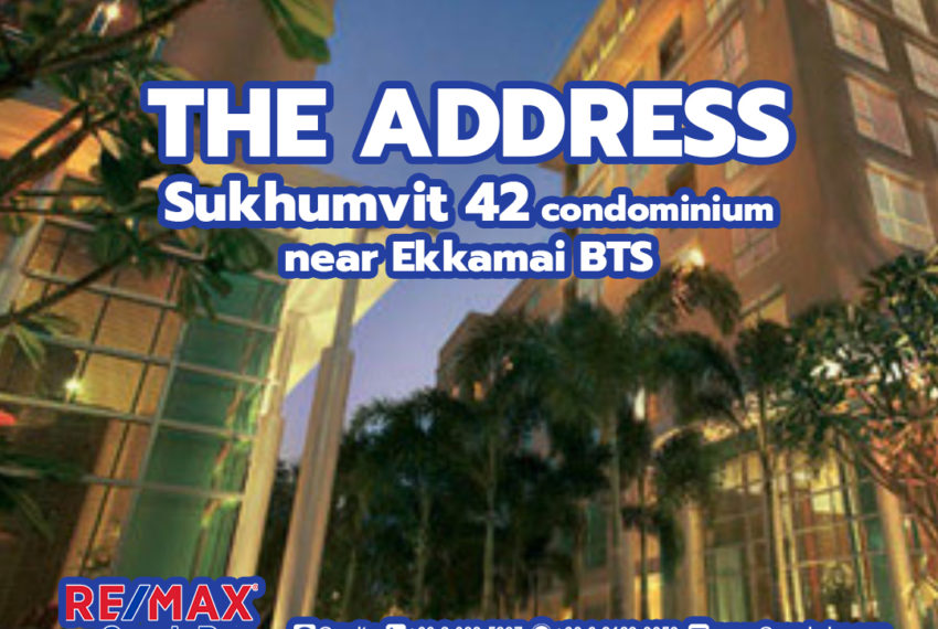 The Address Sukhumvit 42 - REMAX CondoDee