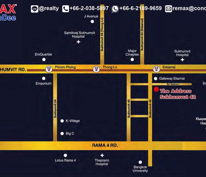 The Address Sukhumvit 42 - map