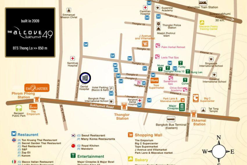 The Alcove 49 condo - map