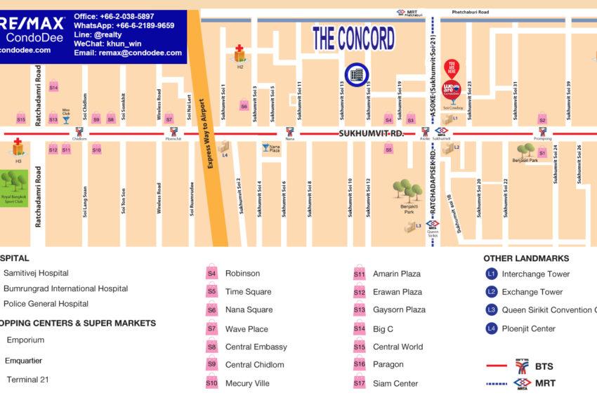 The Concord condo Sukhumvit 15 - map