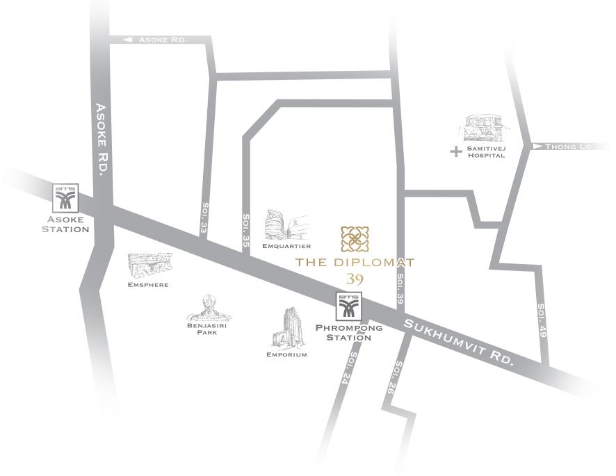 The Diplomat 39 - Luxury Condominium in Sukhumvit 39 Condo in Phrom Phong Condo near Emquartier Condo near BTS Condo Sukhumvit