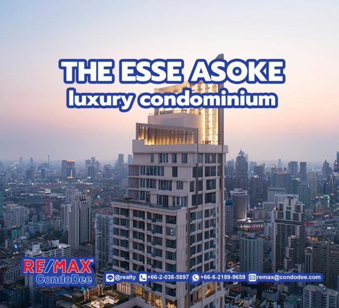 The ESSE Asoke condominium - REMAX CondoDee