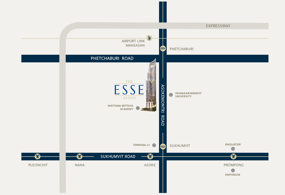 Condo in The Esse Asoke For Sale or Rent. Condo in Asoke for sale. Condo in Asoke for Rent. Condo on high Floor. 1 Bedroom Condo Asoke.