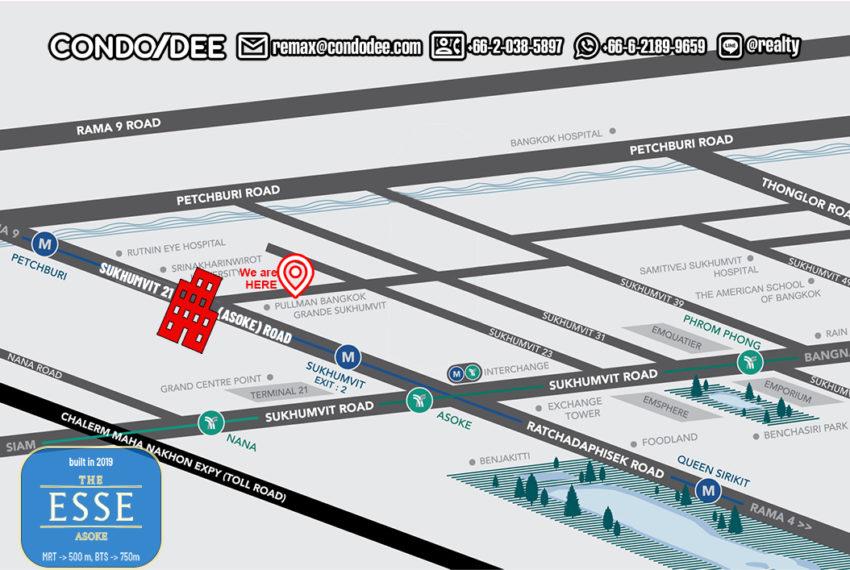 The Esse Asoke condo - map