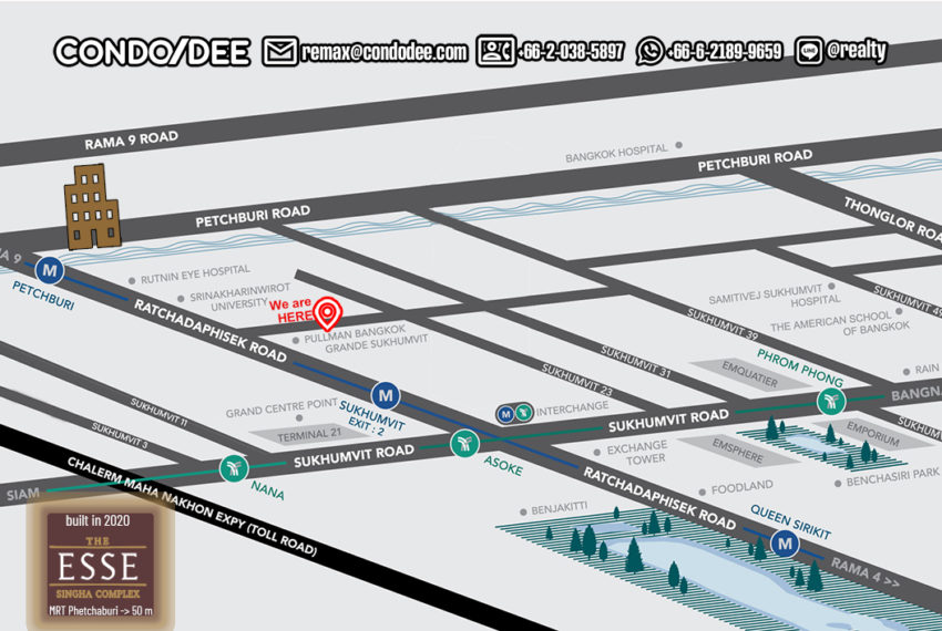 The Esse at Singha Complex condo - map