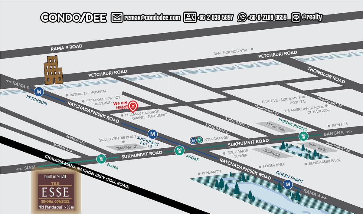 The Esse at Singha Complex - Condominium in Asoke - Phetchaburi - Rama 9