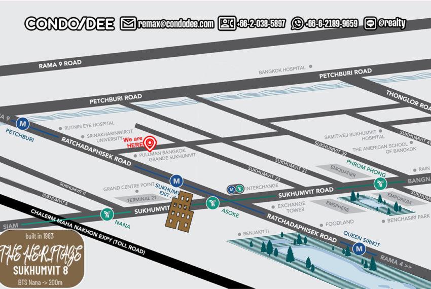 The Heritage condo Sukhumvit 8 - map