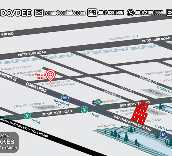 The Lakes condo - map