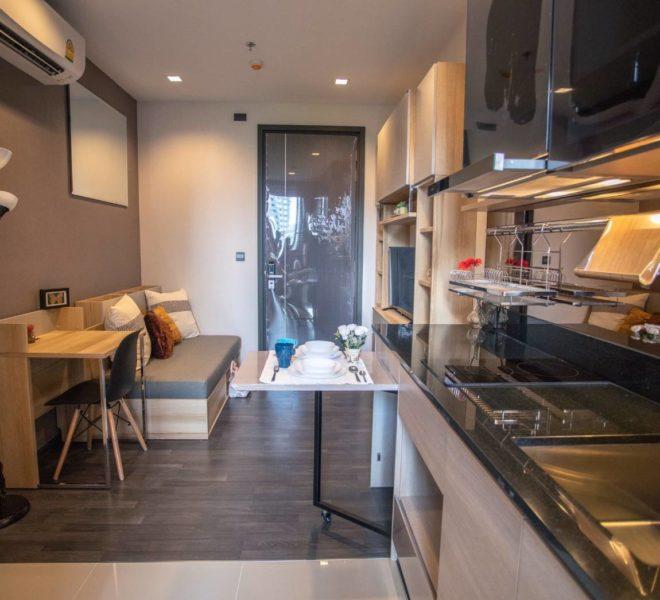 Cheapest Rental in Asoke - Low Floor in The Line Asoke Ratchada 1-Bedroom Condo