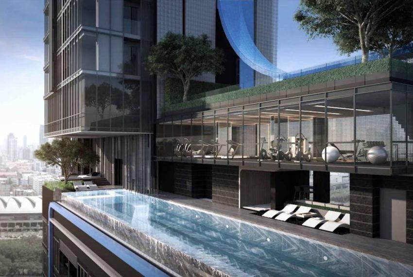The Line Asoke Ratchada-swimming-pool