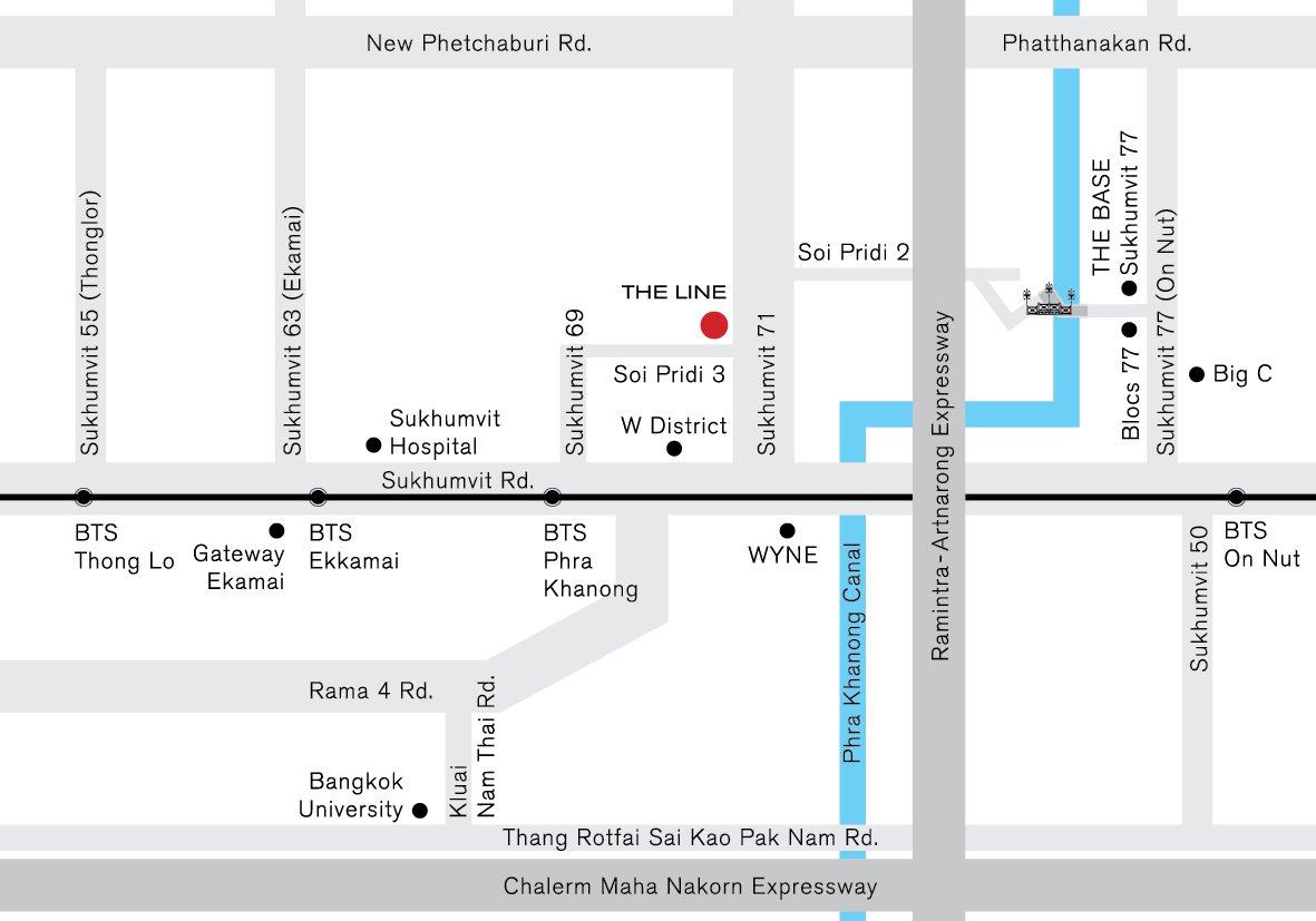 The Line Sukhumvit 71 condominium near BTS Phra Khanong